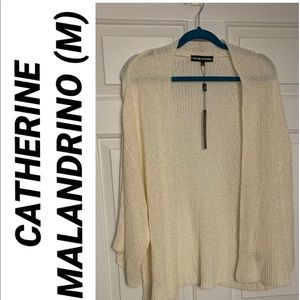 Ivory Lightweight Open Front Sweater NWT M